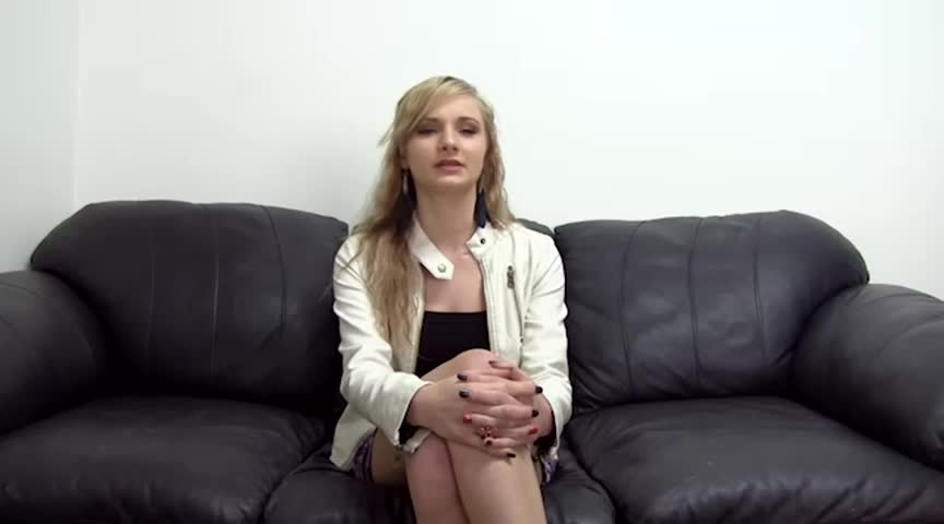 Naughty skinny blonde teen puts
