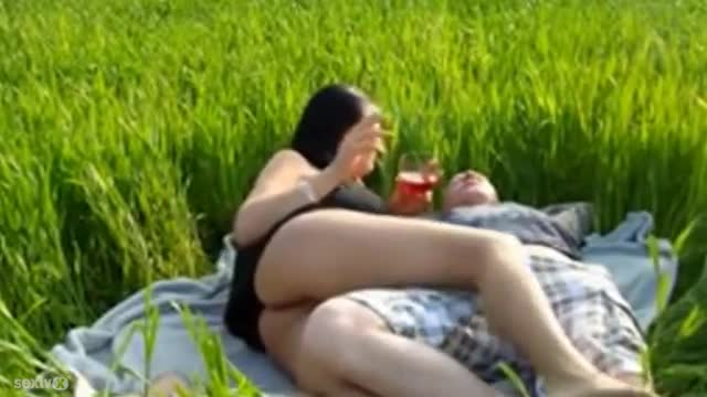 Bbw great fuck on the grass