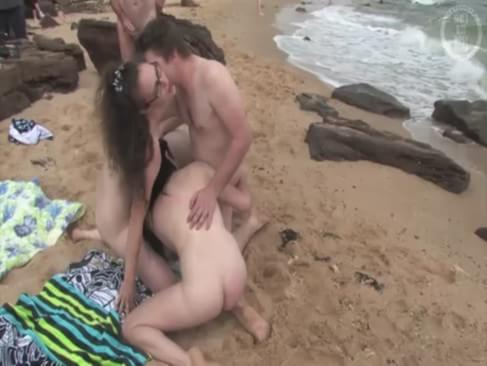 Beach fucking in
