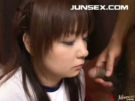 Beautiful asian teen blowjob