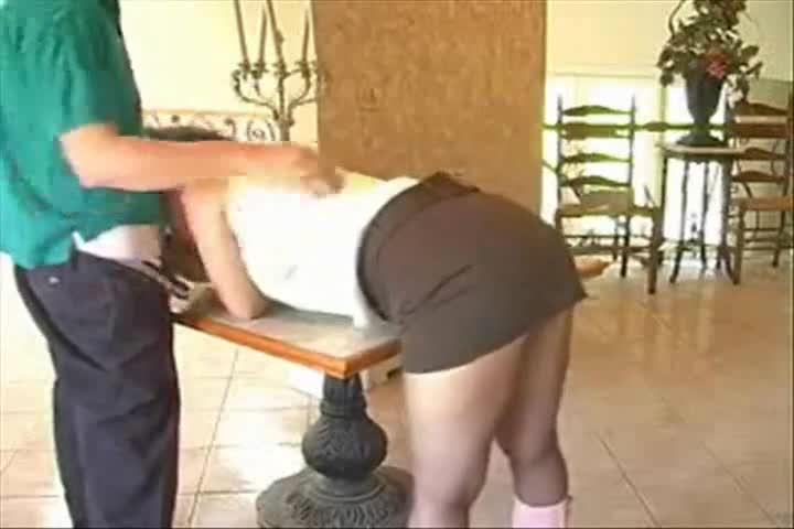 Girls in pantyhose bending over