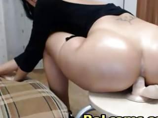 dildo anal Milf riding