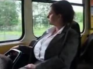 Milf in tram