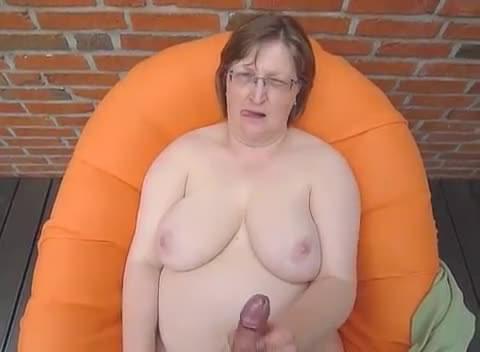 Cum on tits granny