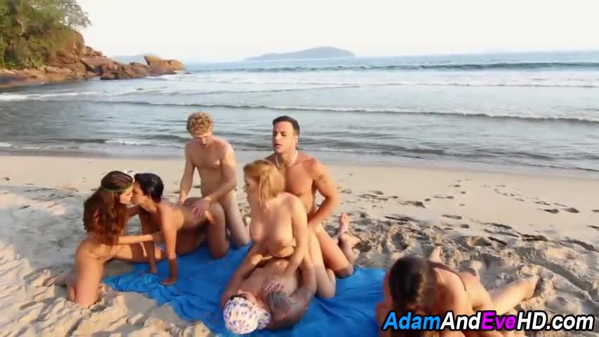 black beach orgy