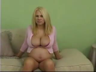 Pregnant blonde big tits