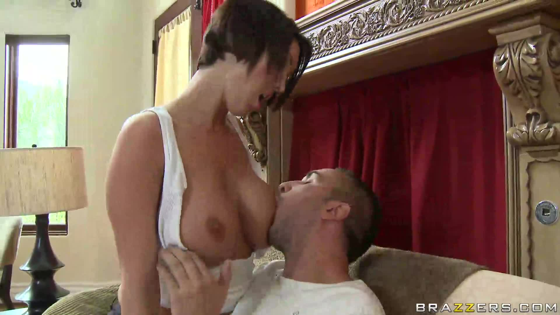 Riding Dick While Sucking Tits