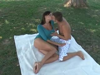 Big tits milf fucked in the park