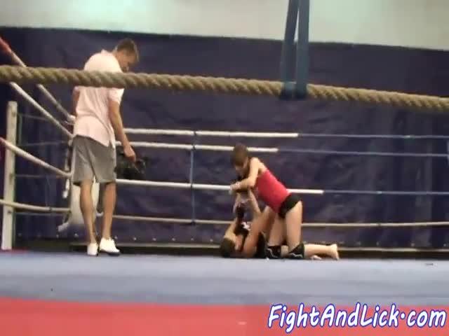 lesbians boxing