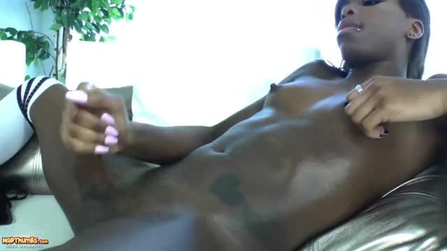 Shemale Masturbating Jerking 112