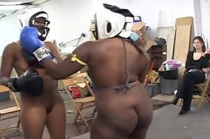 Fighting girls sexy black