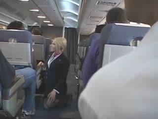 Blond Flight Attendant Fucks Japanese On Plane
