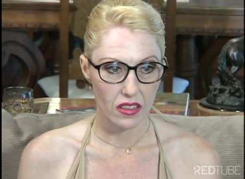 Milf blonde glasses