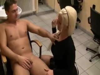 hairdresser porn Blonde