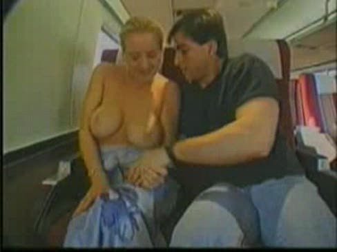 Boob grope in train