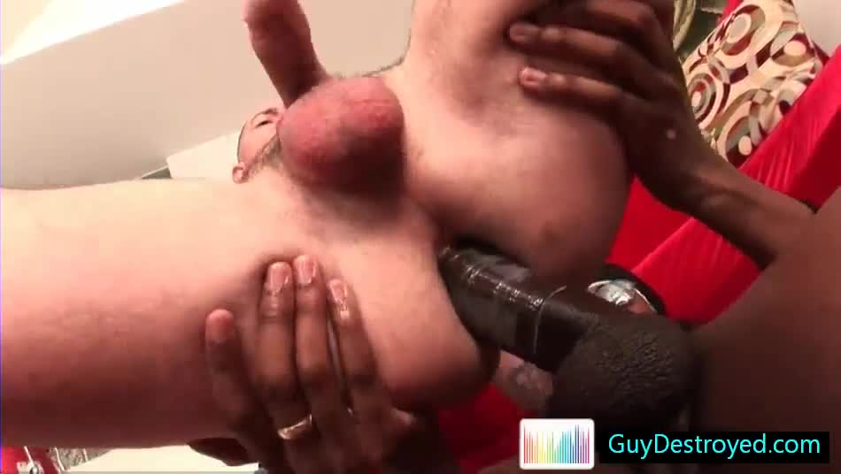 Bobby Gets His Anus Destroyed By Fat Black Cock