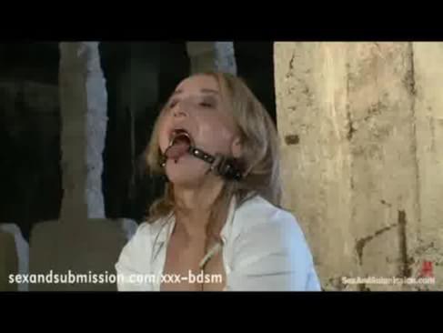Tied bondage bitch orgasm