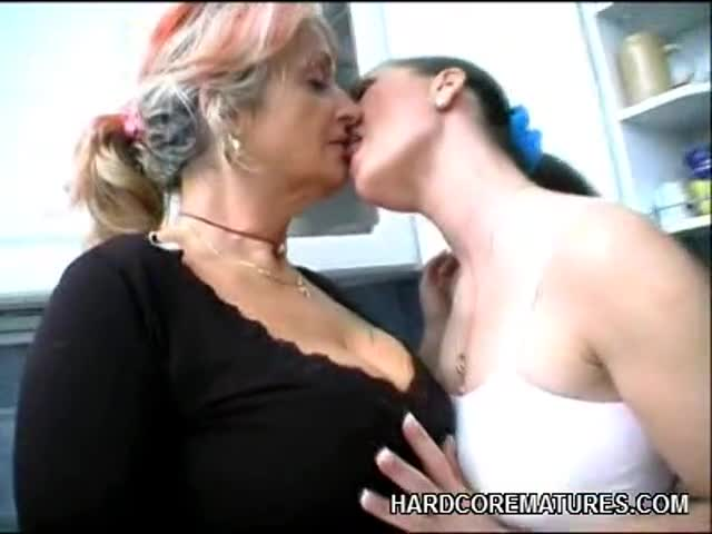 Young Girl Dominates Milf