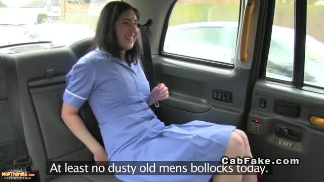 British Nurse Banged In Fake Taxi