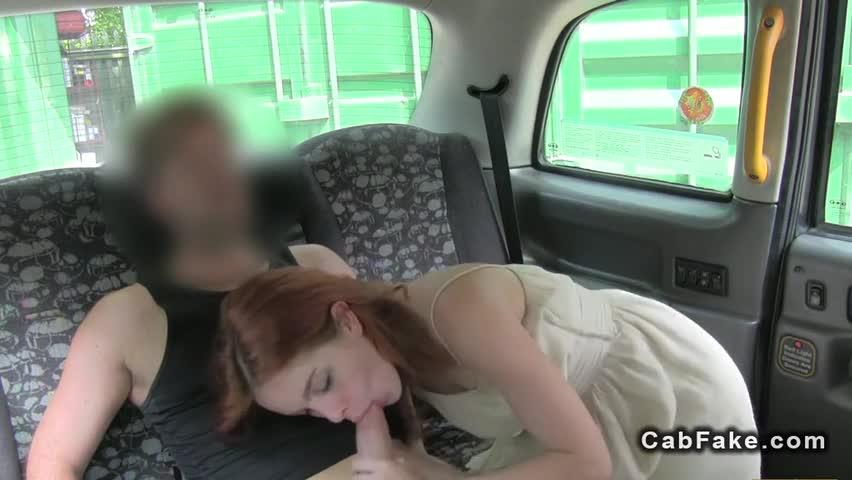 british redhead fake taxi