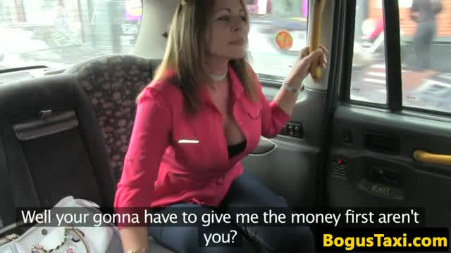 British Taxi Milf Shows Bigtits Before Oral
