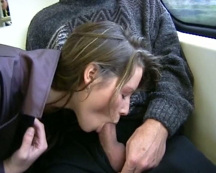 bus blowjob