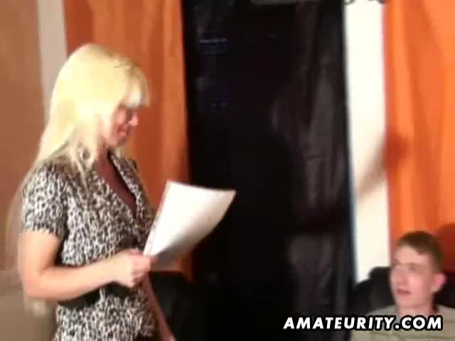 Blonde gilf mature amateur