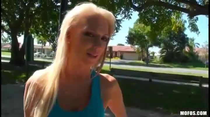 Porn girl in public