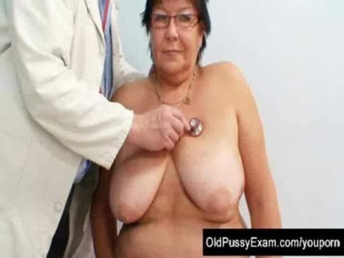 Kinky gyn doctor examines big mature woman who got big tits and wear ...
