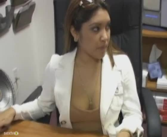 office blowjob Black girl