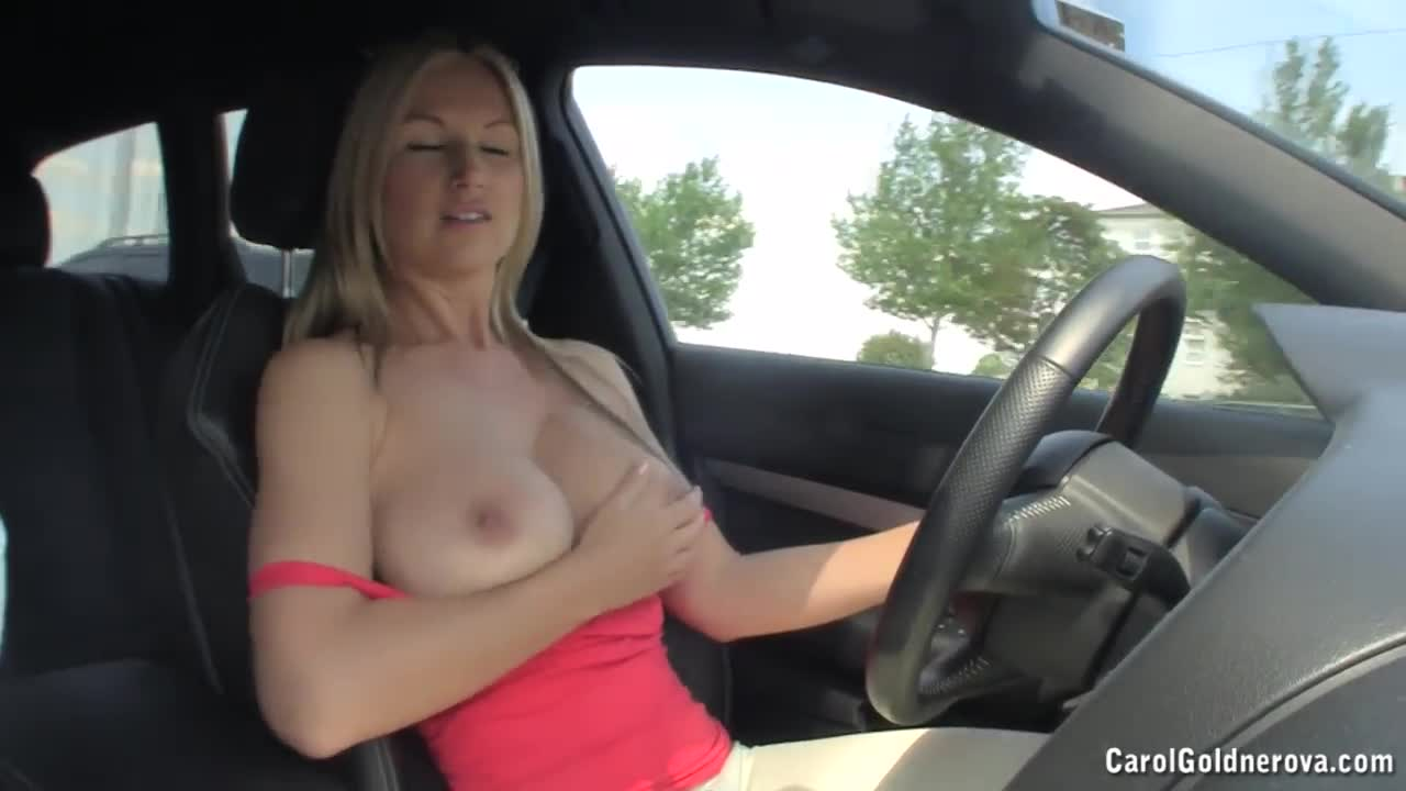 Busty reny drives around 3