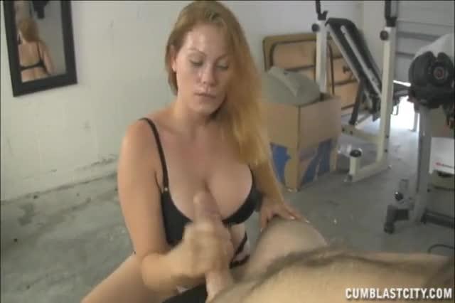 Tugging huge cock