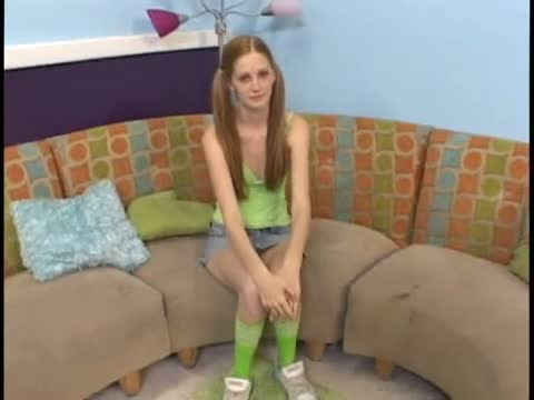 Really nice kinkyandlonelycom casting of a skinny redhead name Sensi She