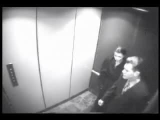 Blowjob in an elevator