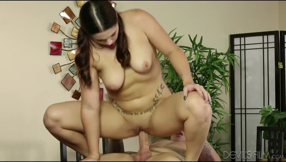 Chubby Teen Riding Dildo