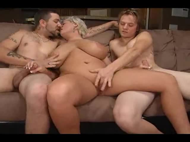 Mature karina with two men