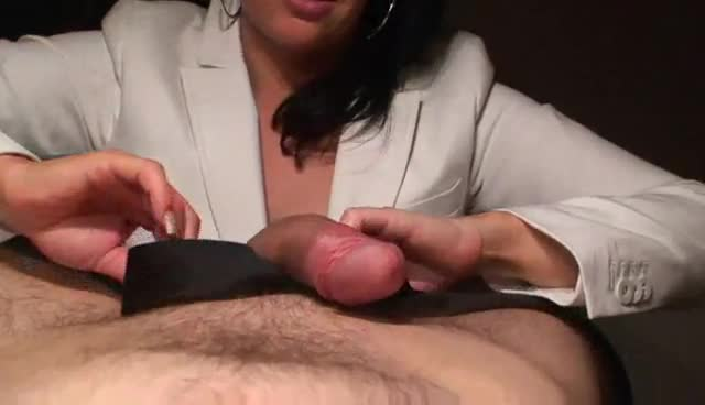 Slow amateur handjob