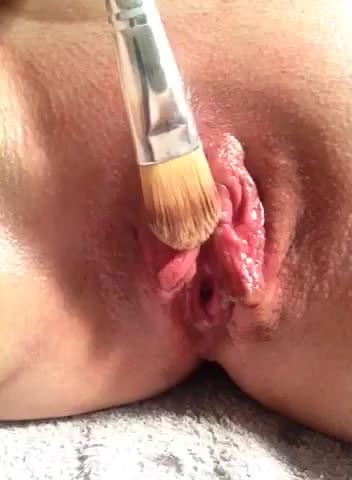 Paint brush clit story