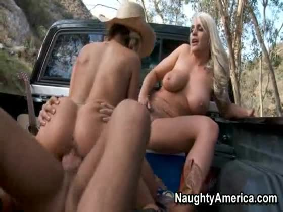 blond milf with big tits playing with her toys