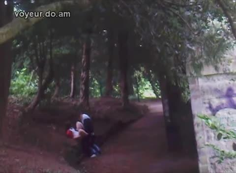 Caught fucking in the woods