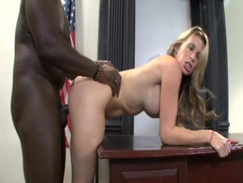 Dominant blonde judge jesse jane is fucked on her desk 7