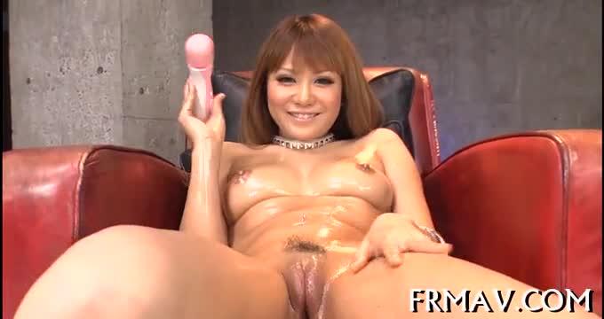 Asian pussy toying and blowbang