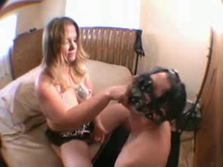 Cuckold Slave Cum Eating