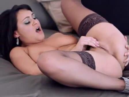 Girl in hot spandex masterbating