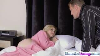 StepDad helps Madison find a new job- On his cock