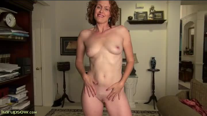 Curly milf naked