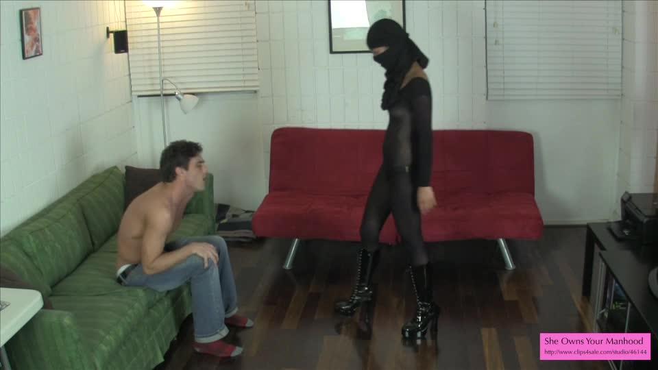 Cute ninja ballbuster 1 preview pantyhose bodysuit 2