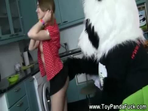 cute teen sucks her toy panda avery's bare ass spanking. cute teen avery gets a harsh bare ass spanking in ...
