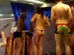 Danish students strip for their teachers