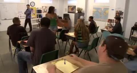 Sucking dick in class